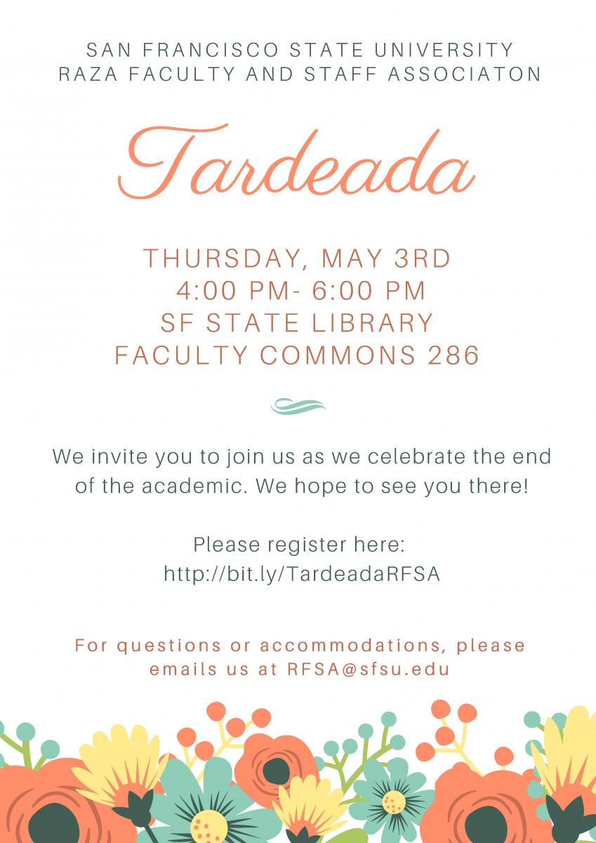 Raza Faculty and Staff Association Tardeada - May 3, 2018
